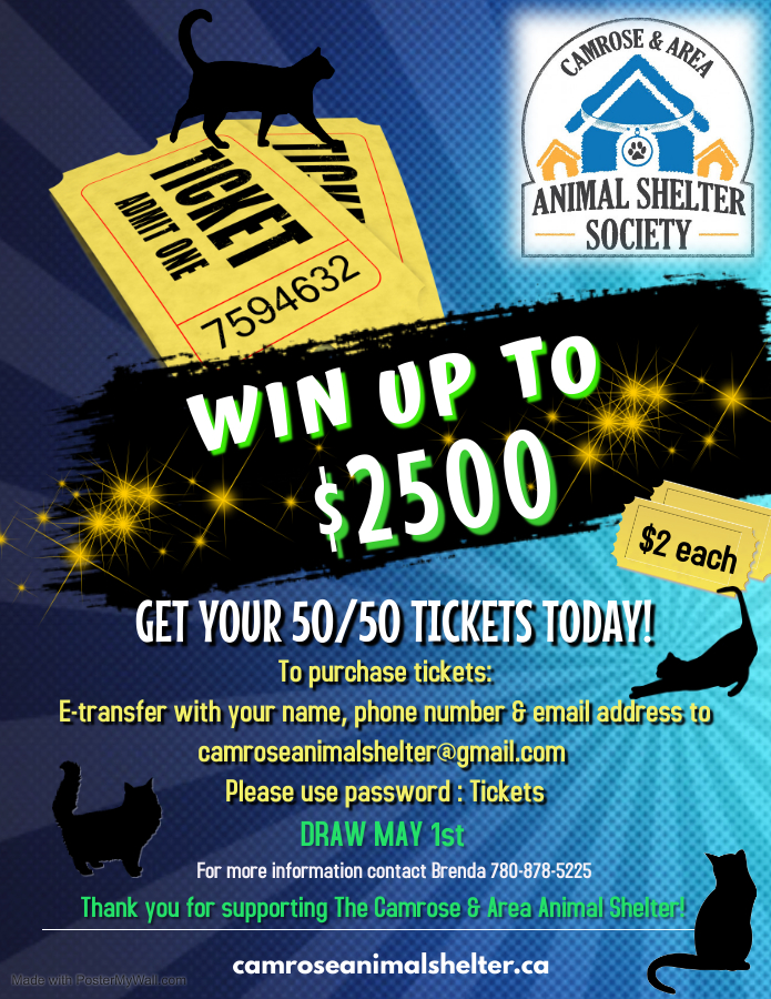 50/50 Raffle! Win up to $2500!