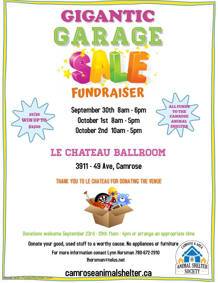 Gigantic Garage Sale Fundraiser